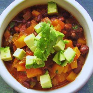Black-Bean Chili With Winter Squash