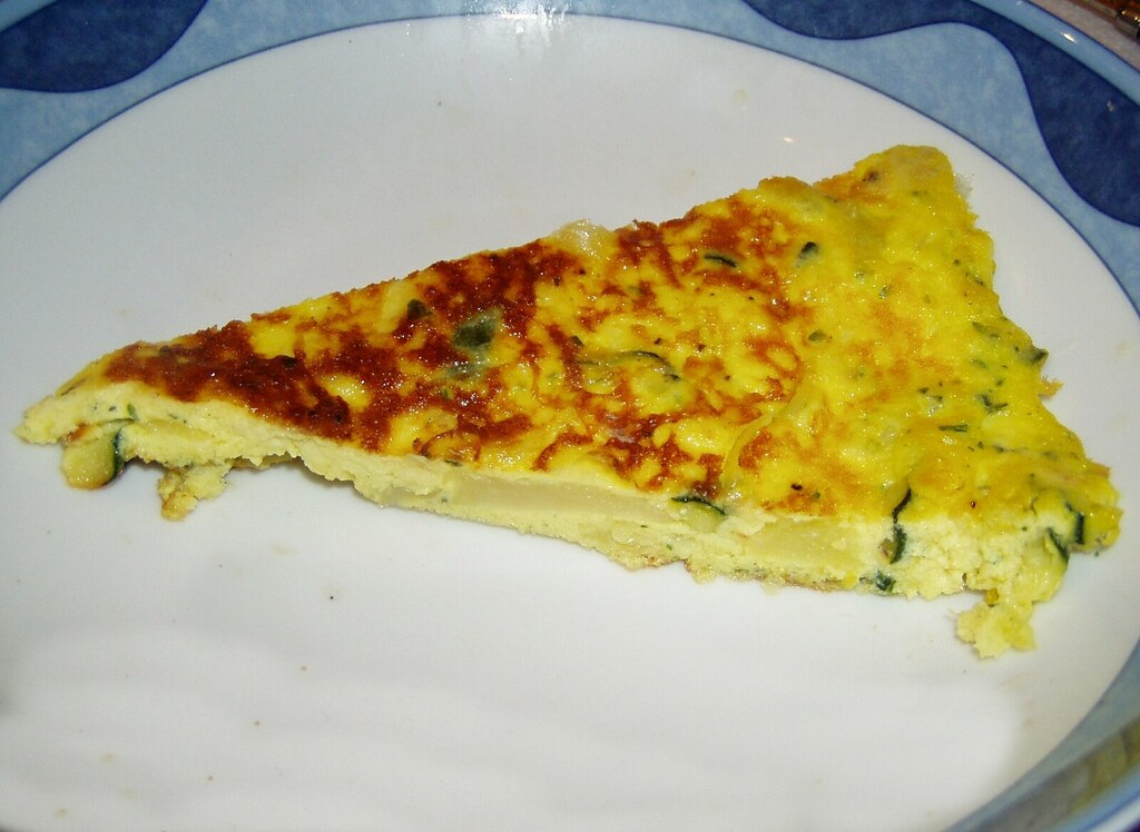 Egg White Frittata with Zucchini