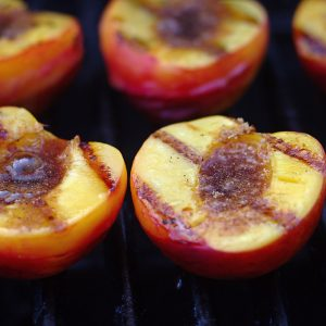 grilled peach