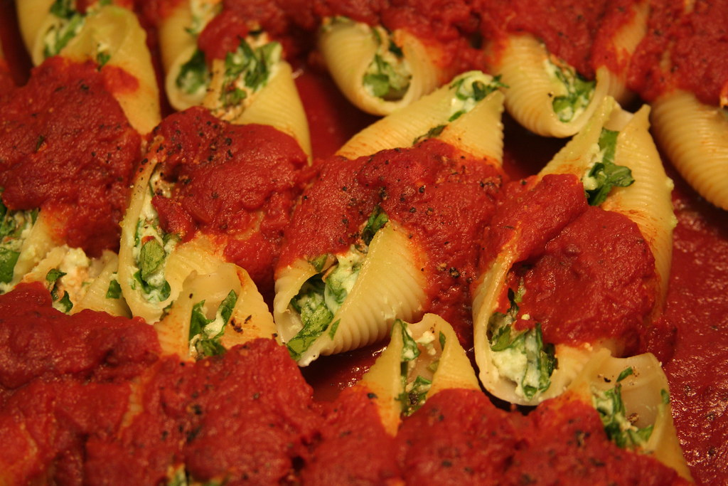 Vegetable Stuffed Shells