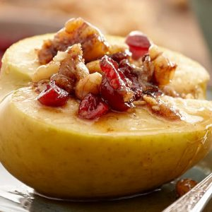 Cranberry Nut Stuffed Baked Apples
