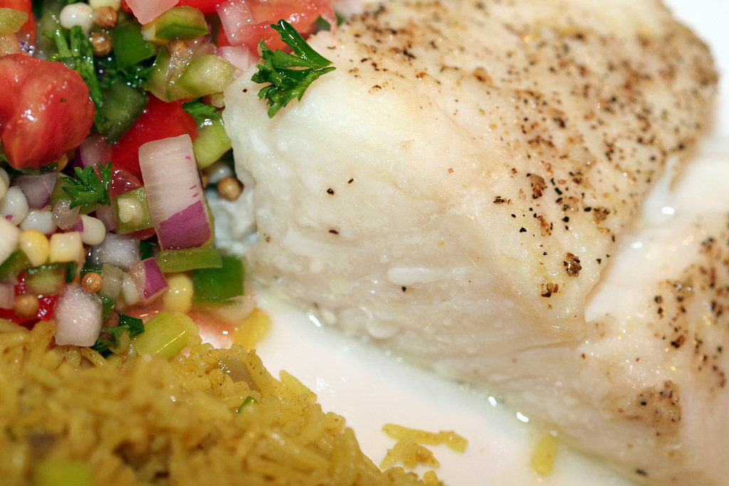 Baked Halibut with Orange