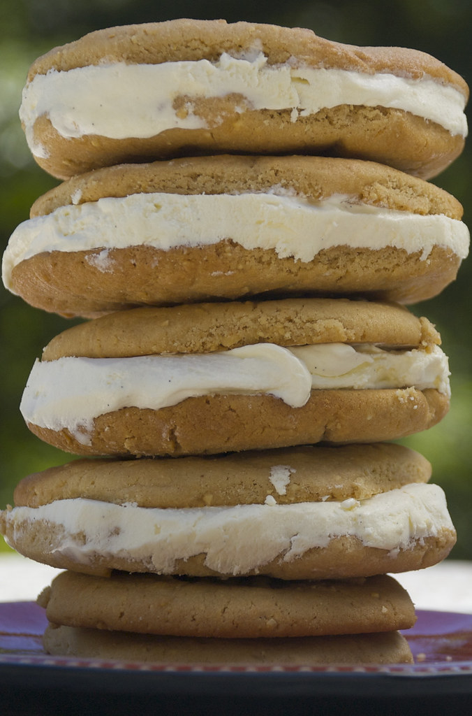 Peanut Ice Cream Sandwiches