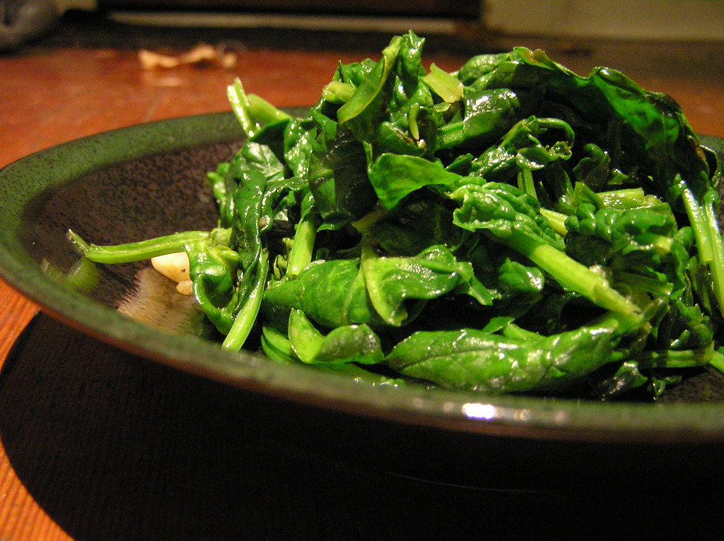 Sauteed Lemon Garlic Spinach